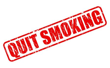 quit: QUIT SMOKING red stamp text on white