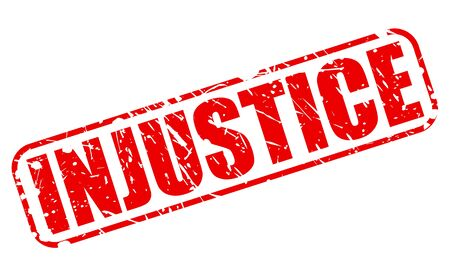 discriminate: INJUSTICE red stamp text on white