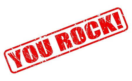 rockstar: YOU ROCK red stamp text on white Stock Photo