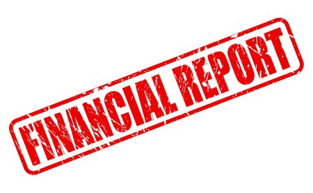 liabilities: FINANCIAL REPORT red stamp text on white
