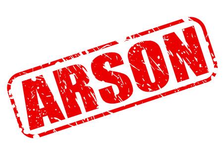 arsonist: Arson red stamp text on white