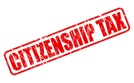 citizenship: CITIZENSHIP TEST red stamp text on white Stock Photo