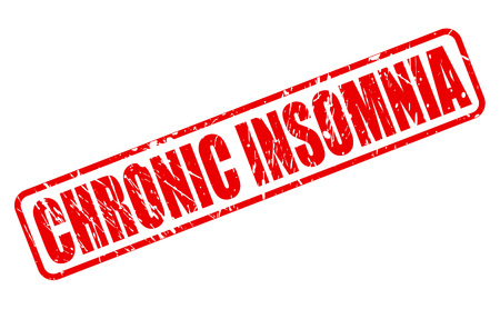 insomniac: CHRONIC INSOMNIA red stamp text on white
