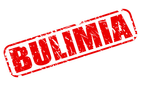 bulimia: BULIMIA red stamp text on white