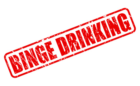 risky behavior: BINGE DRINKING red stamp text on white Stock Photo