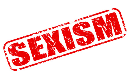 SEXISM red stamp text on white