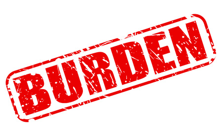 burden: BURDEN red stamp text on white
