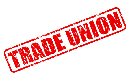 trade union: TRADE UNION red stamp text on white Stock Photo