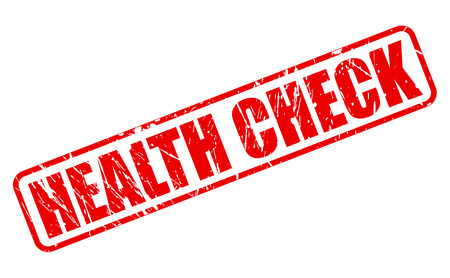 health check: HEALTH CHECK red stamp text on white