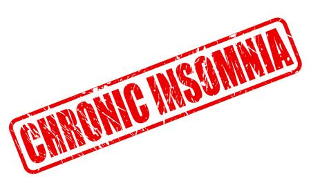 restless: CHRONIC INSOMNIA red stamp text on white