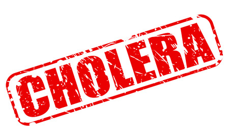chol�ra: CHOLERA red stamp text on white Banque d'images