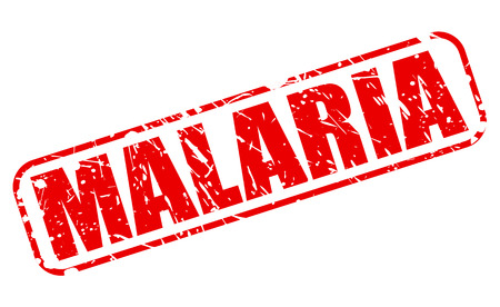 fatal: MALARIA red stamp text on white