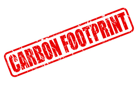 carbon footprint: CARBON FOOTPRINT red stamp text on white