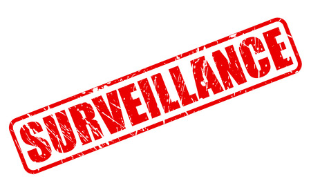 totalitarianism: SURVEILLANCE red stamp text on white
