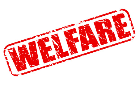 nhs: WELFARE red stamp text on white Stock Photo