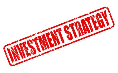 expenditure: INVESTMENT STRATEGY red stamp text on white Stock Photo