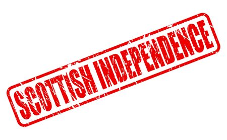 SCOTTISH INDEPENDENCE red stamp text on white Stock Photo