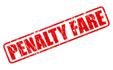 fare: PENALTY FARE red stamp text on white Stock Photo