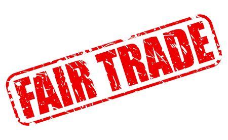third world economy: FAIR TRADE red stamp text on white
