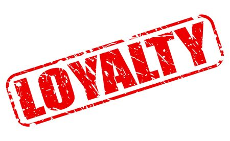 trustworthiness: LOYALTY red stamp text on white Stock Photo