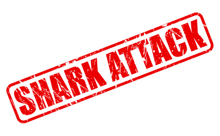 fatality: SHARK ATTACK red stamp text on white