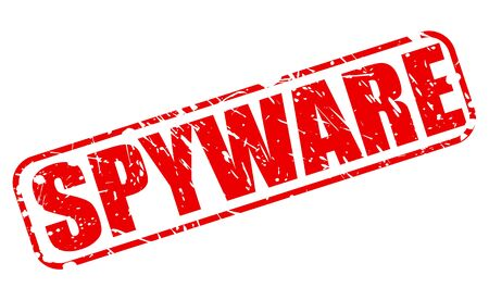 spyware: SPYWARE red stamp text on white