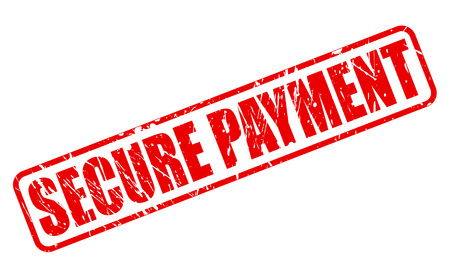secure payment: SECURE PAYMENT red stamp text on white
