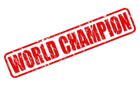 finalist: WORLD CHAMPION red stamp text on white Stock Photo