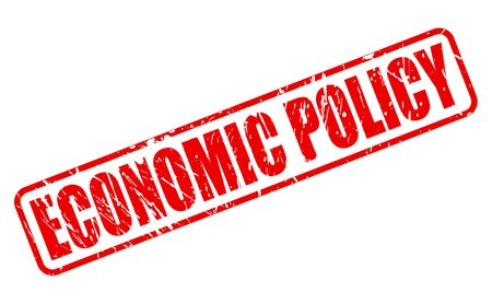 funding of science: ECONOMIC POLICY red stamp text on white