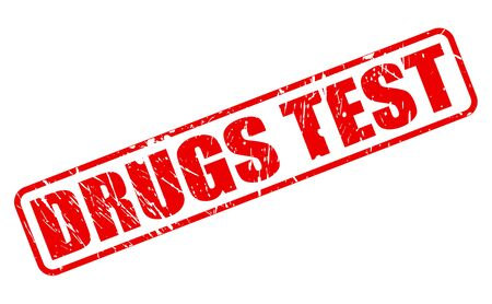 steroid: DRUGS TEST red stamp text on white