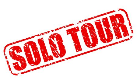 SOLO TOUR red stamp text on white Stock Photo