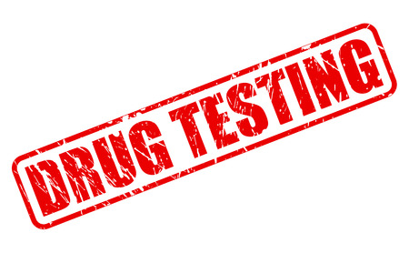 enhancing: DRUG TESTING red stamp text on white