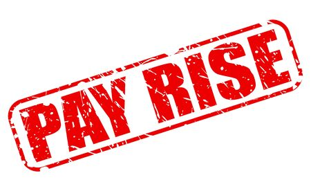 pay raise: PAY RISE red stamp text on white Stock Photo