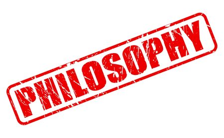 viewpoints: PHILOSOPHY red stamp text on white