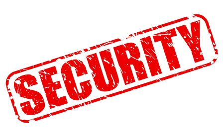 safekeeping: SECURITY red stamp text on white