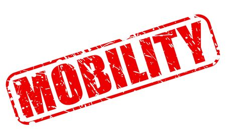maneuverability: MOBILITY red stamp text on white