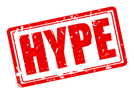 hype: HYPE red stamp text on white Stock Photo