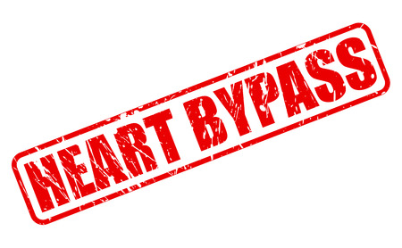 heart bypass: HEART BYPASS red stamp text on white