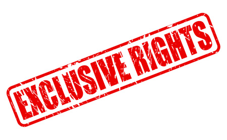 privileged: EXCLUSIVE RIGHTS red stamp text on white