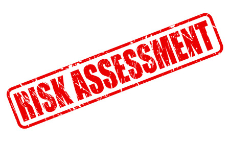 financial emergency: RISK ASSESSMENT red stamp text on white