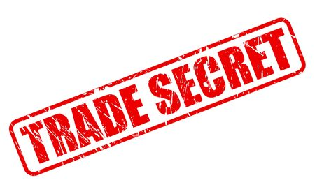 trade secret: TRADE SECRET red stamp text on white