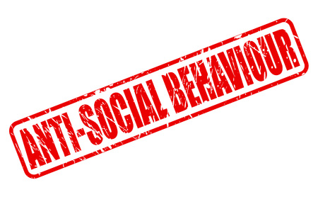 policing: ANTI-SOCIAL BEHAVIOUR red stamp text on white