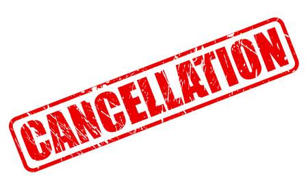 cancellation: CANCELLATION red stamp text on white