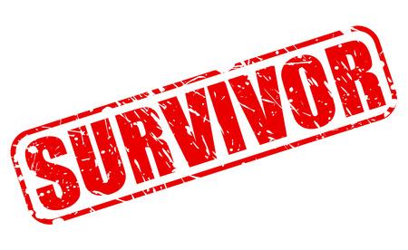 survivor: SURVIVOR red stamp text on white Stock Photo