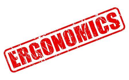 ergonomic: ERGONOMICS red stamp text on white