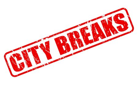 breaks: CITY BREAKS red stamp text on white