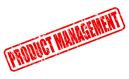 retailing: PRODUCT MANAGEMENT red stamp text on white Stock Photo