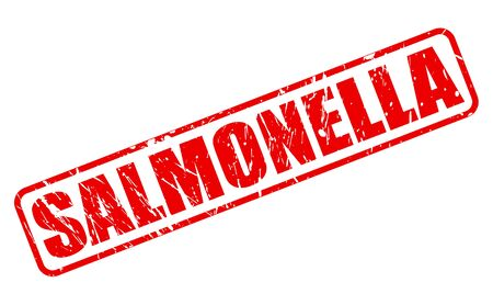 salmonella: SALMONELLA red stamp text on white Stock Photo