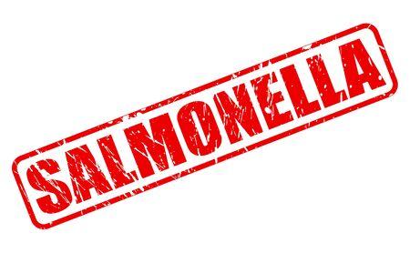 monella: Texto SALMONELLA sello rojo sobre blanco