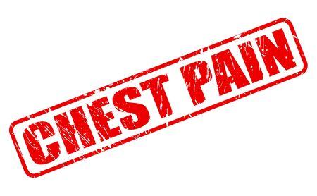 dolor de pecho: DOLOR DE PECHO texto del sello rojo sobre blanco